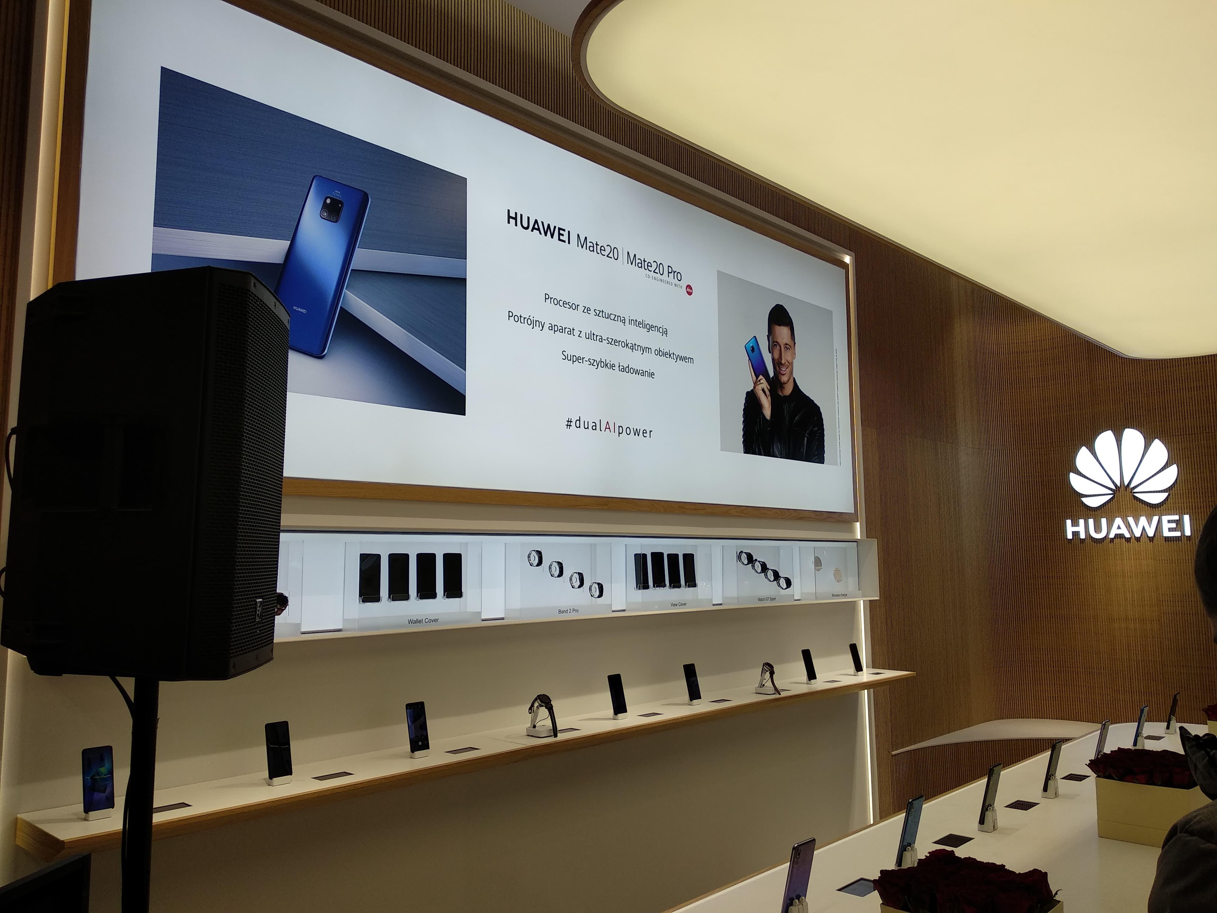 Wielkie otwarcie pierwszego sklepu Huawei w Polsce