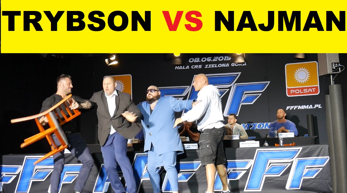 Trybson vs Najman Face to Face konferencja Free Fight Federation FFF MMA