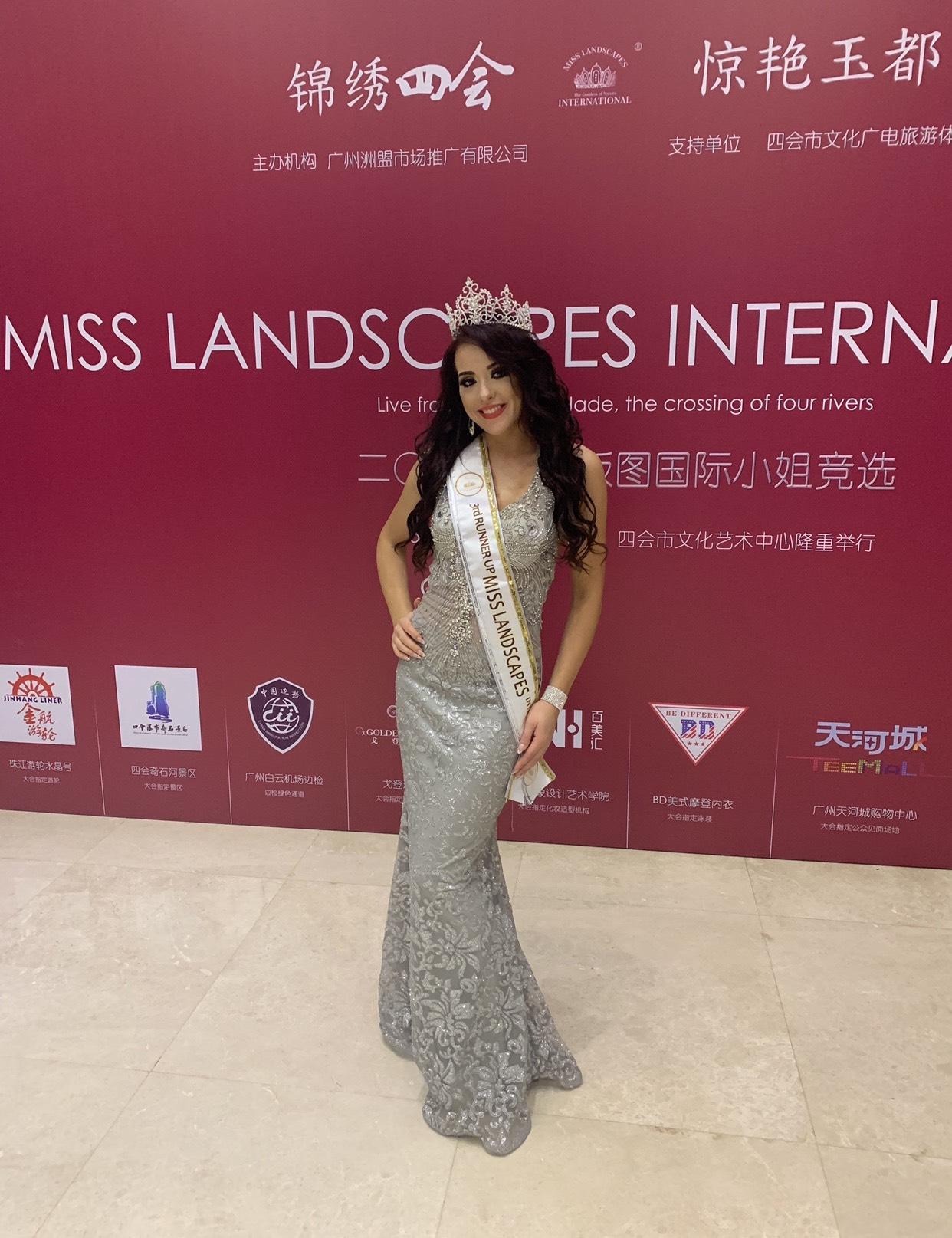 Roksana Oraniec 3rd runner up Miss Landscapes International 2019